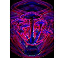 Neon Shrooms Photographic Print