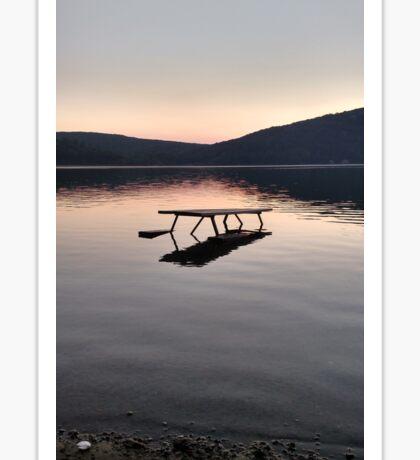 Picnic on the Lake Sticker