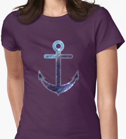 Space Anchor Womens Fitted T-Shirt