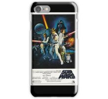 star wars poster iPhone Case/Skin