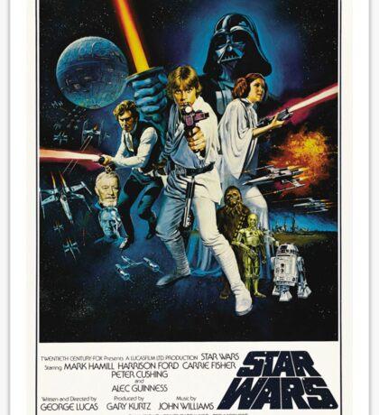 star wars poster Sticker