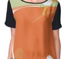 Sweet Orange Apples Chiffon Top