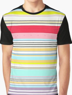 Delicious Rainbow Striped Lines Graphic T-Shirt