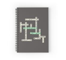 Scrabble Things Spiral Notebook