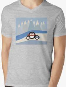 Cute Penguins Mens V-Neck T-Shirt