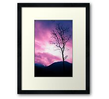 Into the Pink & Purple Sky - JUSTART © Framed Print