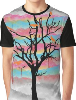 Colorful Crows Graphic T-Shirt