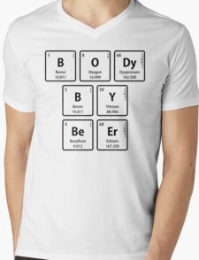 BODy BY BeEr in Periodic Table Element Symbols Mens V-Neck T-Shirt