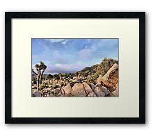 Joshua Tree Field of Cactus Framed Print