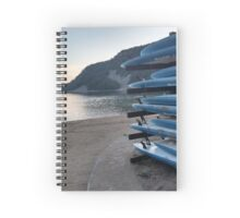 Surfboards on the beach Spiral Notebook