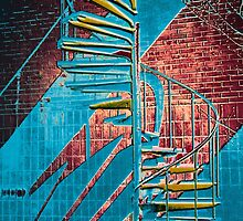 Spiral Staircase Multi-Color(C-B) by Ralph  Chance