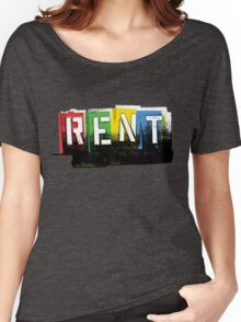 Rent Logo Color Women's Relaxed Fit T-Shirt
