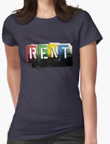 Rent Logo Color Womens Fitted T-Shirt