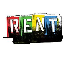 Rent Logo Color Photographic Print