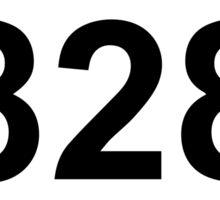 828 Area Code Sticker
