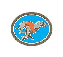Greyhound Dog Racing Circle Retro by patrimonio