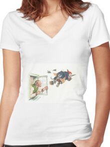 Victorian Halloween 8 Women's Fitted V-Neck T-Shirt