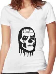 Ghosty Women's Fitted V-Neck T-Shirt