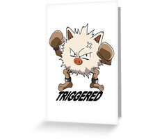 Triggered Primeape Greeting Card