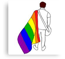 nick martin lgbt+ pride flag  Canvas Print