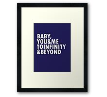 To Infinity & Beyond Framed Print