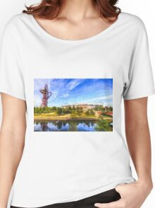 West Ham Olympic Stadium And The Arcelormittal Orbit Art Women's Relaxed Fit T-Shirt