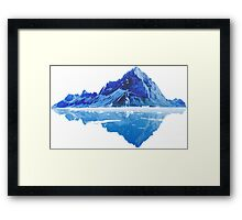 Along the frosted mountains Framed Print