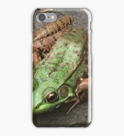 Green frog iPhone Case/Skin