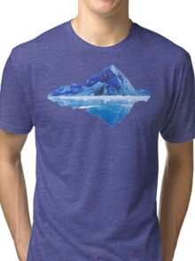 Along the frosted mountains Tri-blend T-Shirt