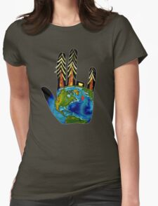 Poorly Earth. Womens Fitted T-Shirt