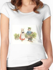 Victorian Christmas 3 Women's Fitted Scoop T-Shirt