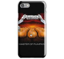 MASTER OF PUMPKIN (spice) iPhone Case/Skin