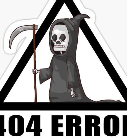 404 Error - COSTUME NOT FOUND Sticker