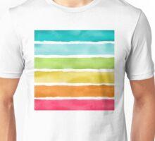 Watercolor Stripes Unisex T-Shirt