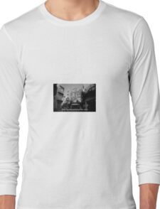 Lomography white and black photo with text Only my dream keeps me alive Long Sleeve T-Shirt