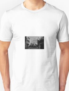 Lomography white and black photo with text Only my dream keeps me alive Unisex T-Shirt