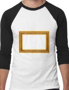 Antique golden frame isolated on white background Men's Baseball ¾ T-Shirt