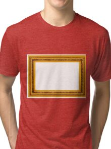 Antique golden frame isolated on white background Tri-blend T-Shirt