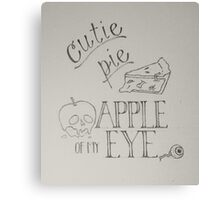 Halloween Typography  Canvas Print
