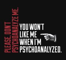 Please Don't Psychoanalyze Me by Articles & Anecdotes
