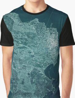 Map Of San Francisco 1857 Graphic T-Shirt