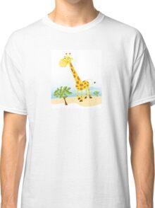 Giraffe. Vector Illustration of funny animal. Classic T-Shirt