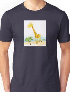 Giraffe. Vector Illustration of funny animal. Unisex T-Shirt