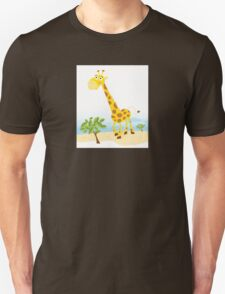 Giraffe. Vector Illustration of funny animal. Unisex T-Shirt