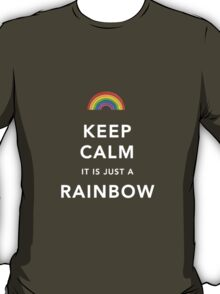 Keep Calm Is Just a Rainbow T-Shirt