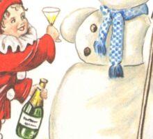 Victorian New Year's Eve Sticker