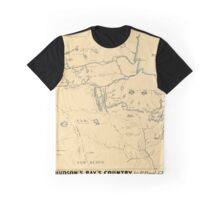 Map Of Hudson Bay 1785 Graphic T-Shirt