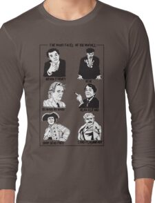 The many faces of Rik Mayall Long Sleeve T-Shirt