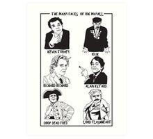 The many faces of Rik Mayall Art Print