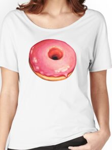 Strawberry Donut Pattern Women's Relaxed Fit T-Shirt